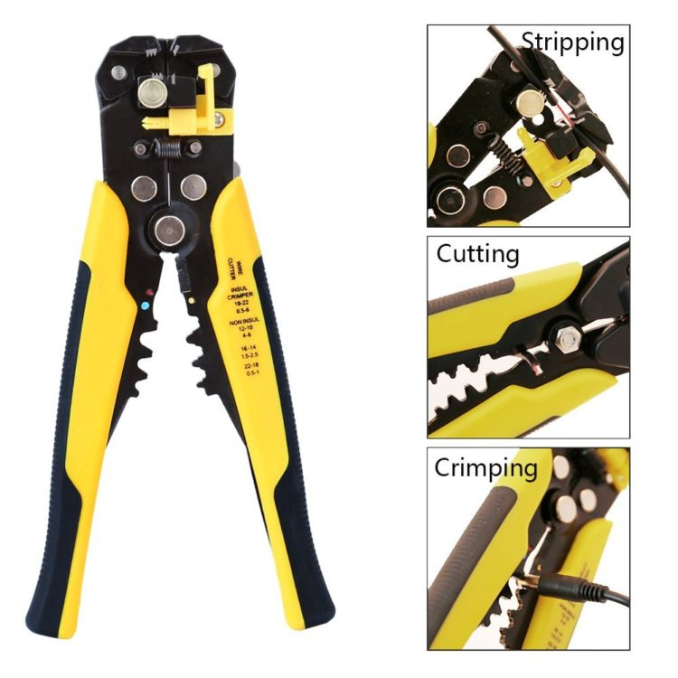 CABLE /& WIRE CUTTERS STRIPPERS HEAVY DUTY /& COMPACT AUTOMATIC SELF ADJUSTING