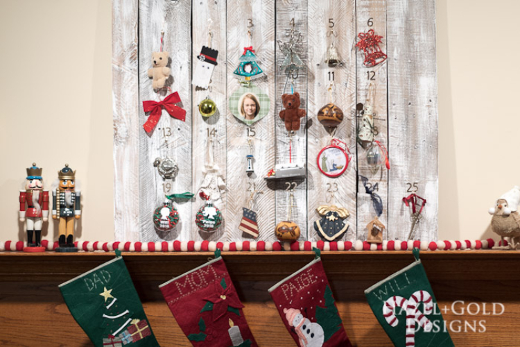 Rustic Wooden Advent Calendar