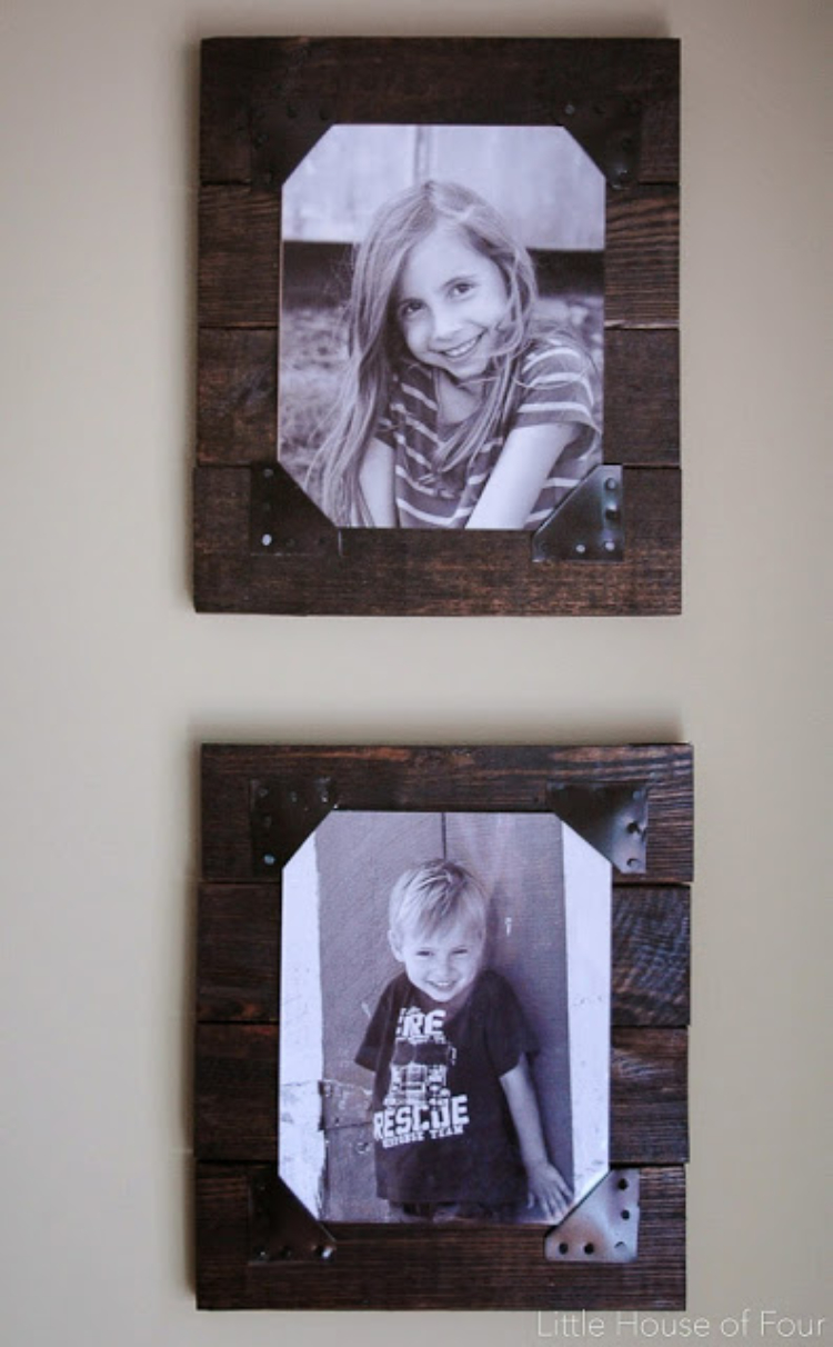 Rustic Pallet Photo Frames
