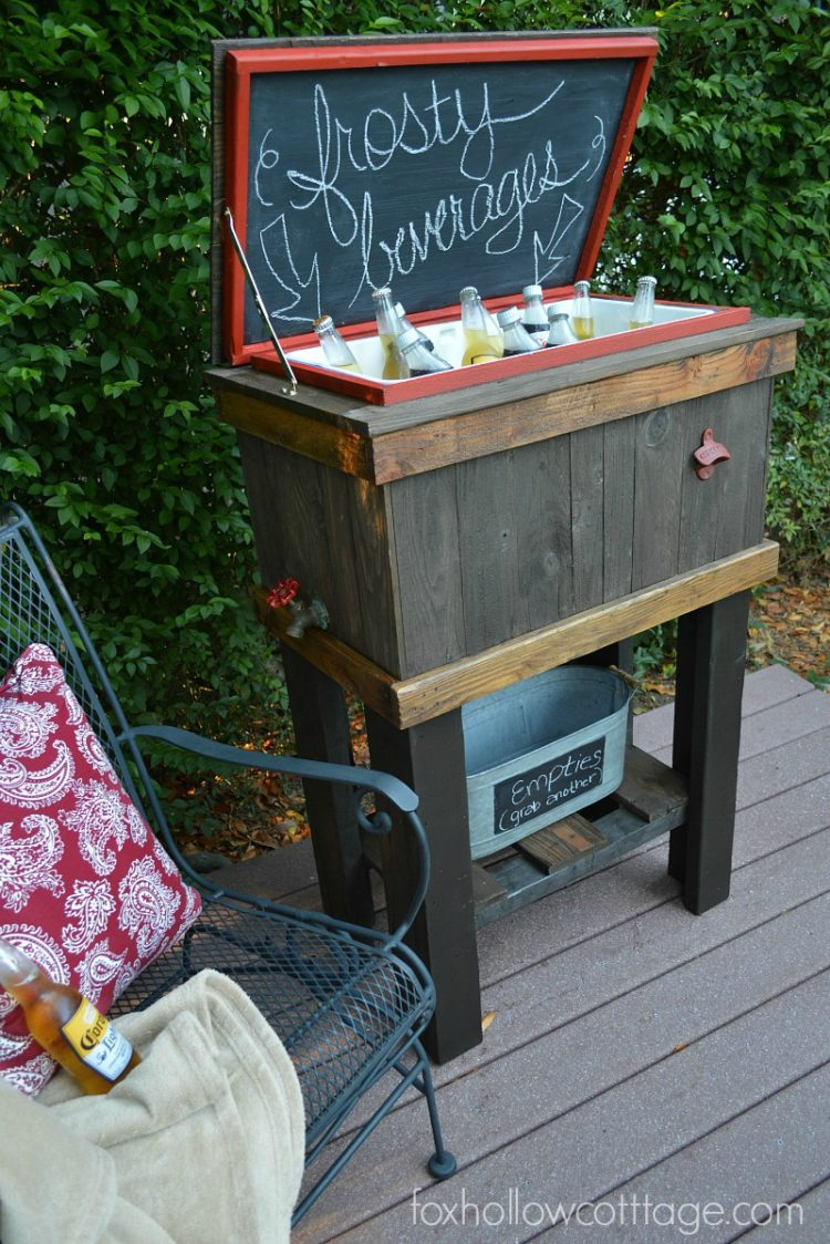 Wooden Deck Cooler